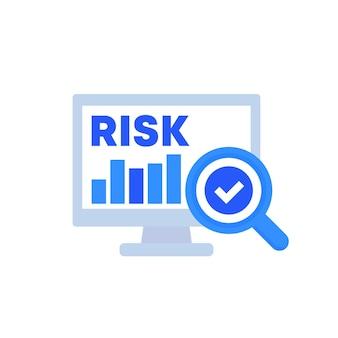 Symbol für risikobewertung, vektorgrafiken
