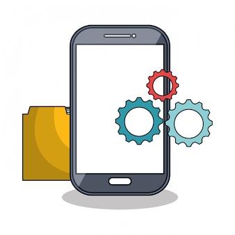 Symbol für smartphone-technologieeinstellungen