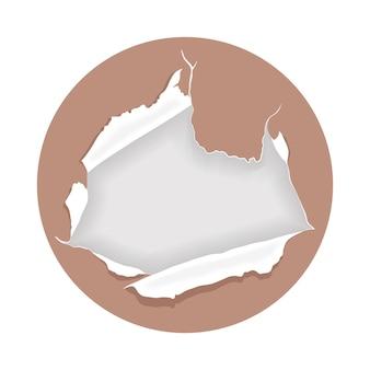 Symbol für zerrissenes papier