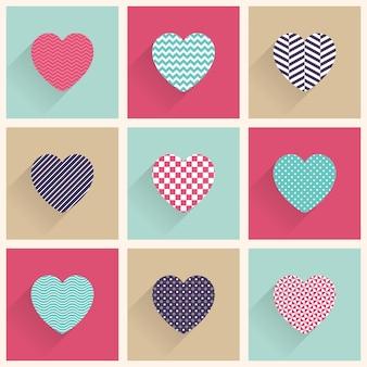 Symbol herzen abbildung. valentinstagskarte für urlaubsvorlage. kreativer und luxuriöser stil