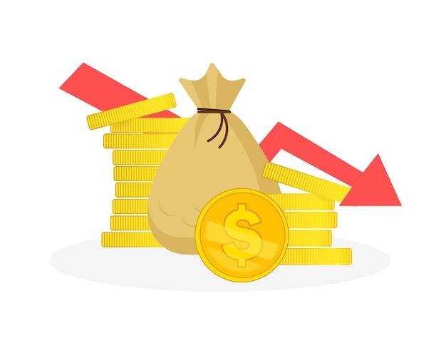 Symbol mit investitionen für bannerdesign. diagramm, diagrammwachstum. con für banner-design.