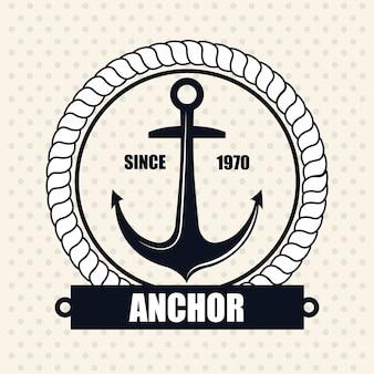 Symbol nautische label emblem isoliert