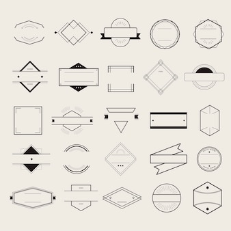 Symbol-Symbol-Ausweis Logo Collection Concept