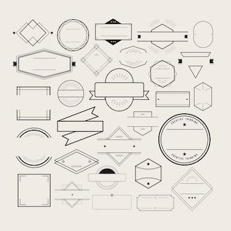 Symbol-symbol-ausweis logo collection concept
