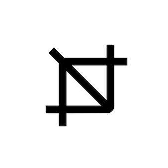 Symbol zuschneiden. schaltfläche zum zuschneiden des werkzeugs. zuschneiden-symbol. vektor-illustration. eps10