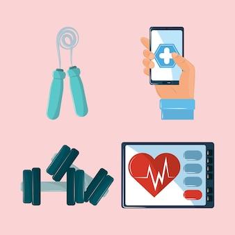 Symbole der gesundheits-app