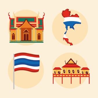 Symbole der thailändischen kultur
