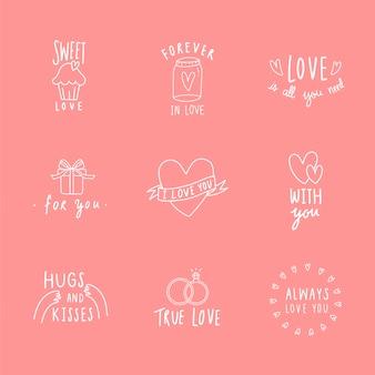 Symbole des gesetzten Vektors der Liebesikone