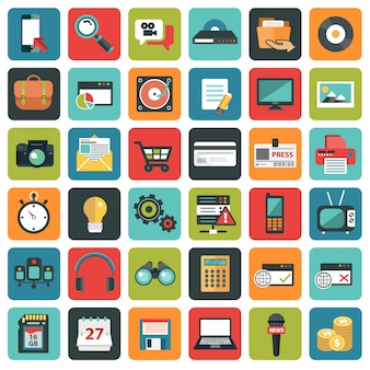 Symbole des sozialen netzwerks
