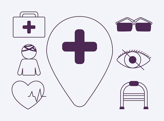 Symbole für deaktivierte barrierefreiheit