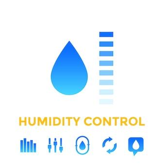 Symbole für die luftfeuchtigkeitskontrolle
