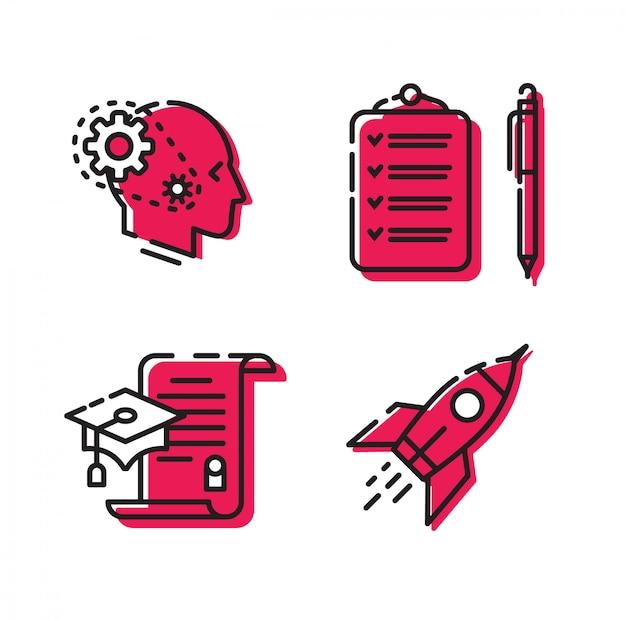 Symbole für die site und das projekt.
