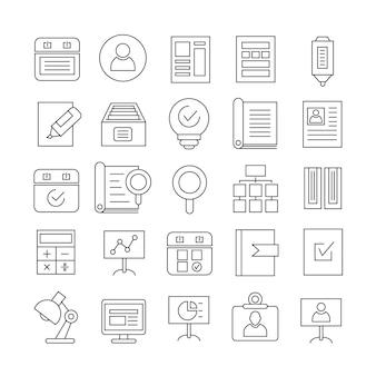 Symbole für die versorgungsleitung