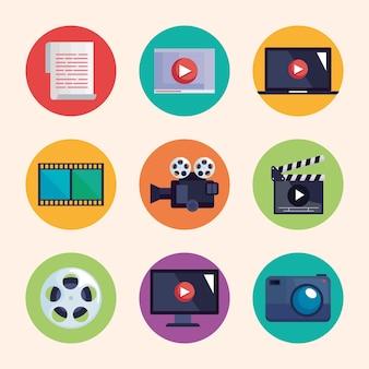 Symbole für die videoproduktion