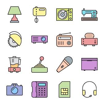 Symbole für elektronische geräte