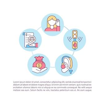 Symbole für gesellschaftliche kostenkonzeptlinien mit text
