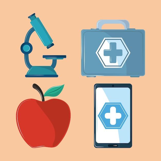 Symbole für gesundheitsmedizin