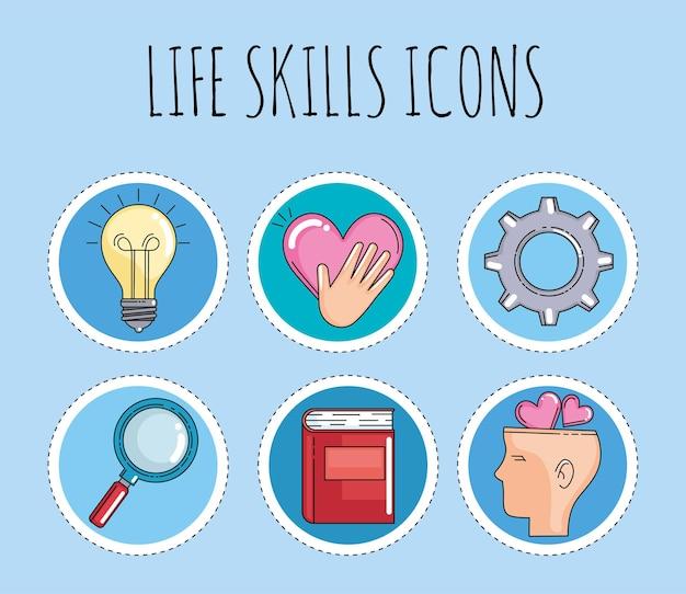 Symbole für lebenskompetenzen