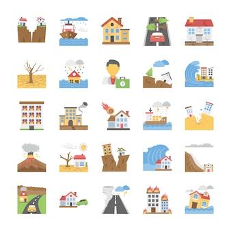 Symbole für naturkatastrophen