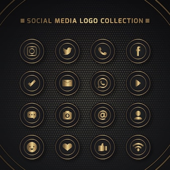 Symbole für soziale netzwerke