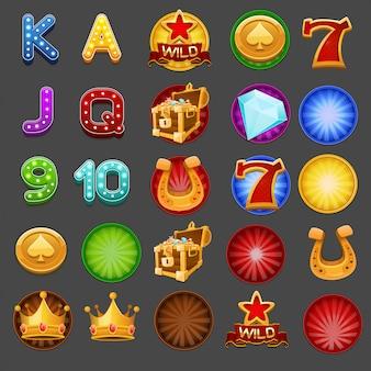 Symbole für spielautomaten