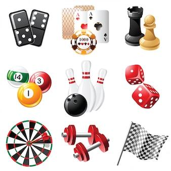 Symbole für sport und freizeit