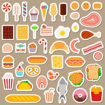 Symbole von fast food