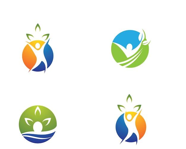 Symbolillustrationsdesign der menschlichen gesundheit