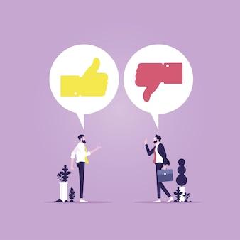 Symbolischer like- oder dislike-vorschlag für eine korrekte bewertung und beurteilung