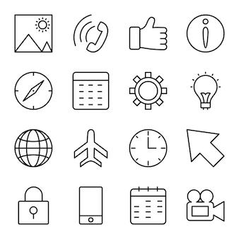 Symbolsatz der grundlegenden benutzeroberfläche