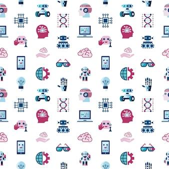 Symbolsatz der künstlichen intelligenz und der elektronischen technologien