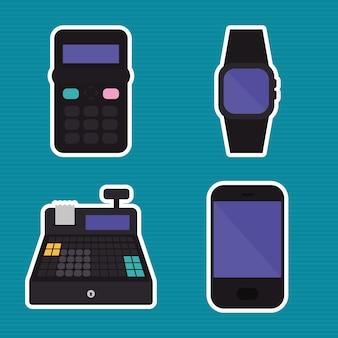 Symbolsatz für mobile zahlungsgeräte