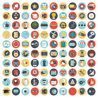 Symbolsatz für websites und mobile anwendungen