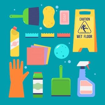 Symbolvorlage für den reinigungsservice.