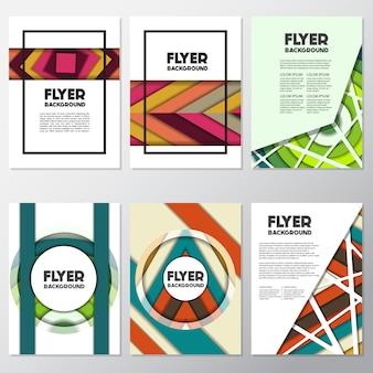 Symmetrische flyer-kollektion