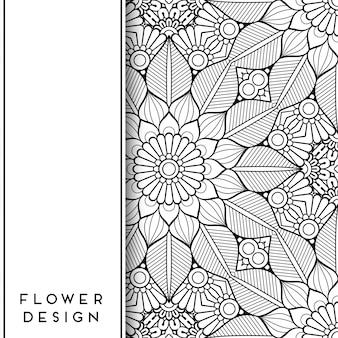 Symmetrisches blumen-mandala