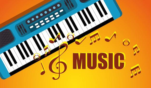Synthesizer musikinstrument symbol