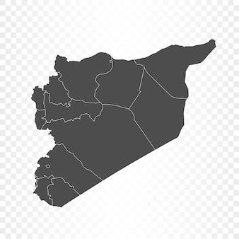 Syrien karte isolierte wiedergabe