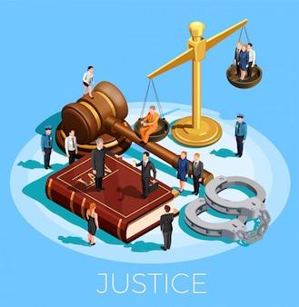 System der gerechtigkeit konzept