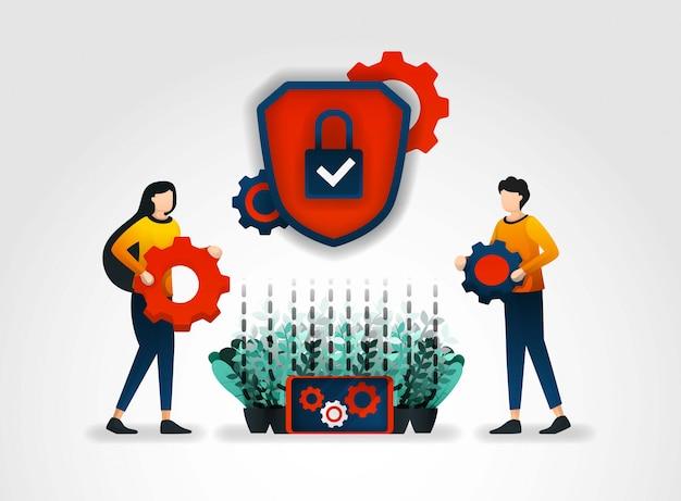 System von sicherheitsmechanismen und warnungen
