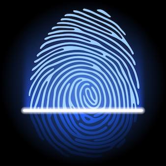 System zur identifizierung von fingerabdrücken
