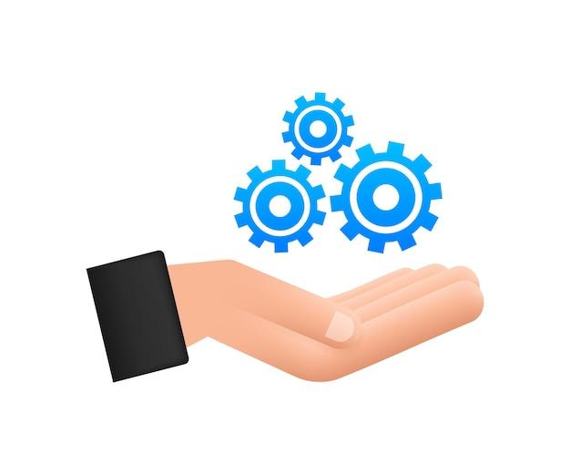 Systemsoftware-update oder upgrade-konzept mit händen banner neues update
