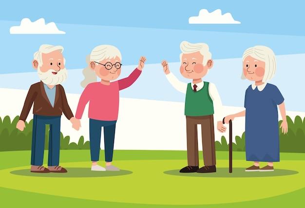 Szene älterer menschen