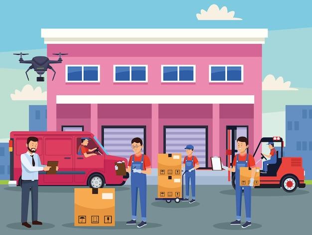 Szene der logistikdienstleister