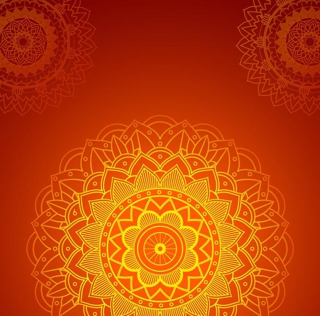 Szene mit orange mandalas