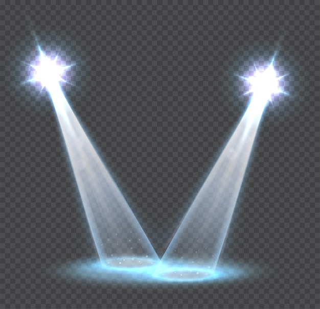 Szene transparente lichteffekte, spotlights