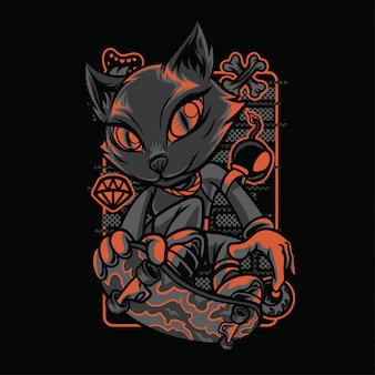 Szenenart katzenrassen illustration