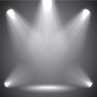 Szenenbeleuchtung helles licht, transparente effekte