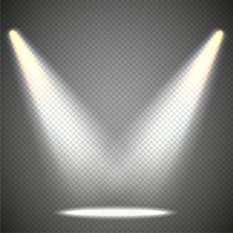 Szenenbeleuchtung von oben, transparente effekte auf eine karierte dunkelheit