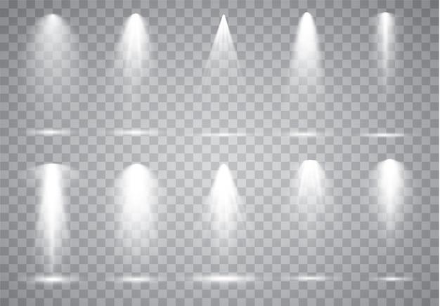Szenenbeleuchtungssammlung, transparente effekte.